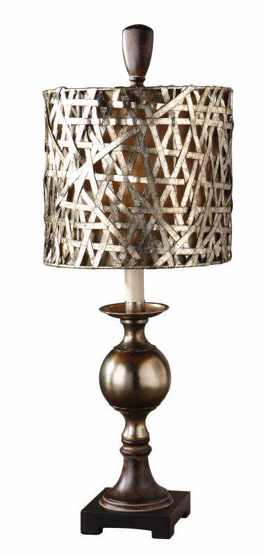 Uttermost 29123-1 Alita Champagne Buffet Lamp Antiqued Silver Cast