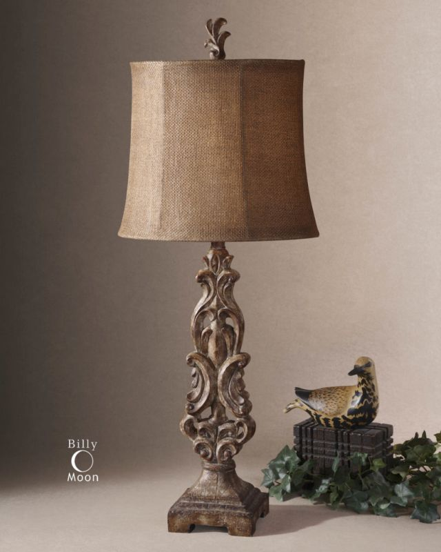 Uttermost 29156-1 Oval Semi Bell Shaded Buffet Lamp from the Gia Sale $195.80 ITEM: bci1216486 ID#:29156-1 UPC: 792977291566 :