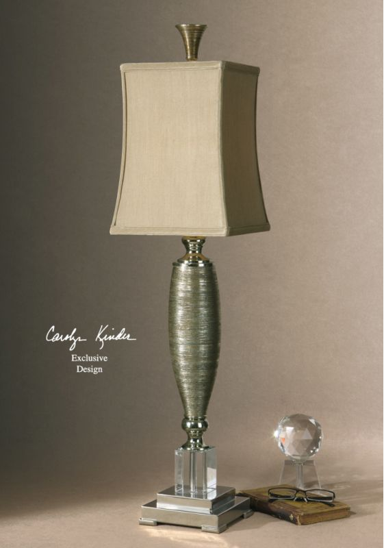 Uttermost 29479-1 Square Semi Bell Shaded Lamp from the Abriella