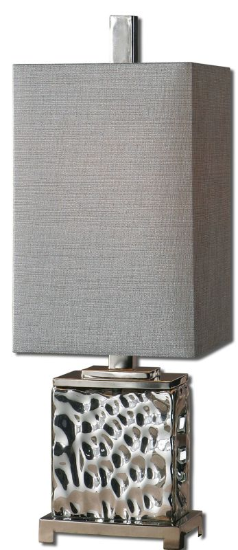 Uttermost 29927-1 Bashan Table Lamp Polished Nickel Lamps