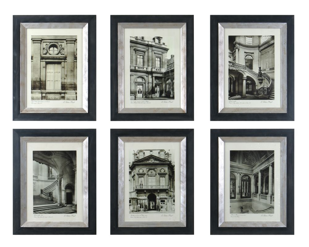 Uttermost 33430 Paris Scene I II III IV V VI - Set of 6 Black