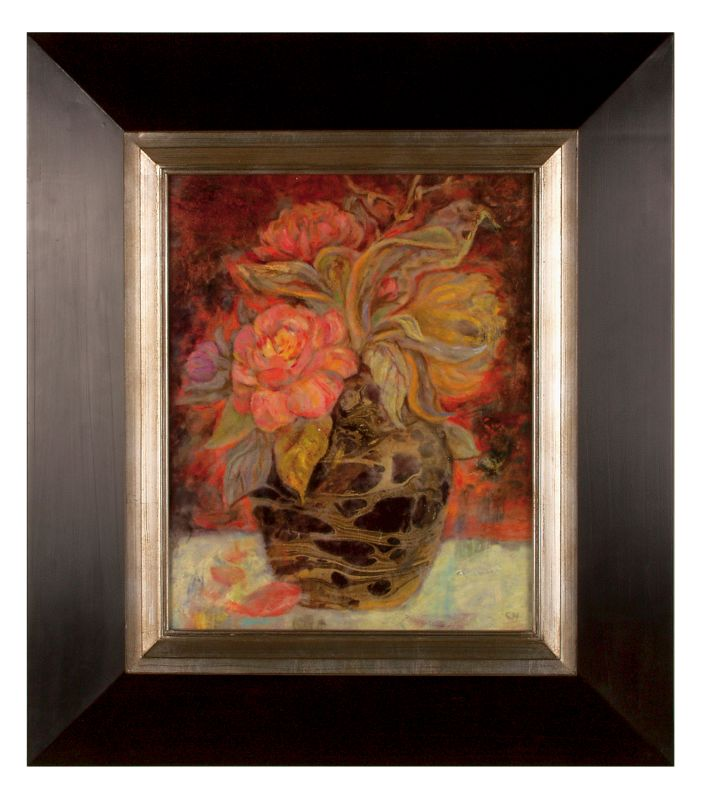 Uttermost 33439 Floral Bunda Orange Peach Brown Home Decor Paintings