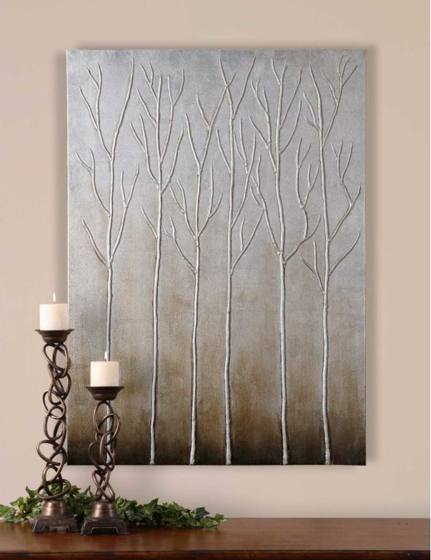 Uttermost 35105 Painting Hand Painted Silver and Brown Tones Home