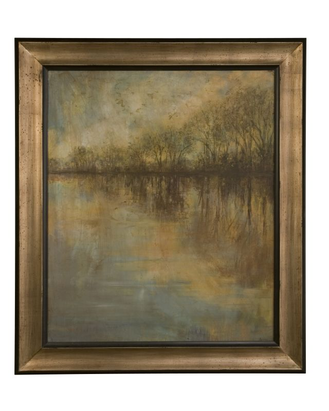 Uttermost 41180 Winter Glow Framed Art Print Blue Tan Brown Home
