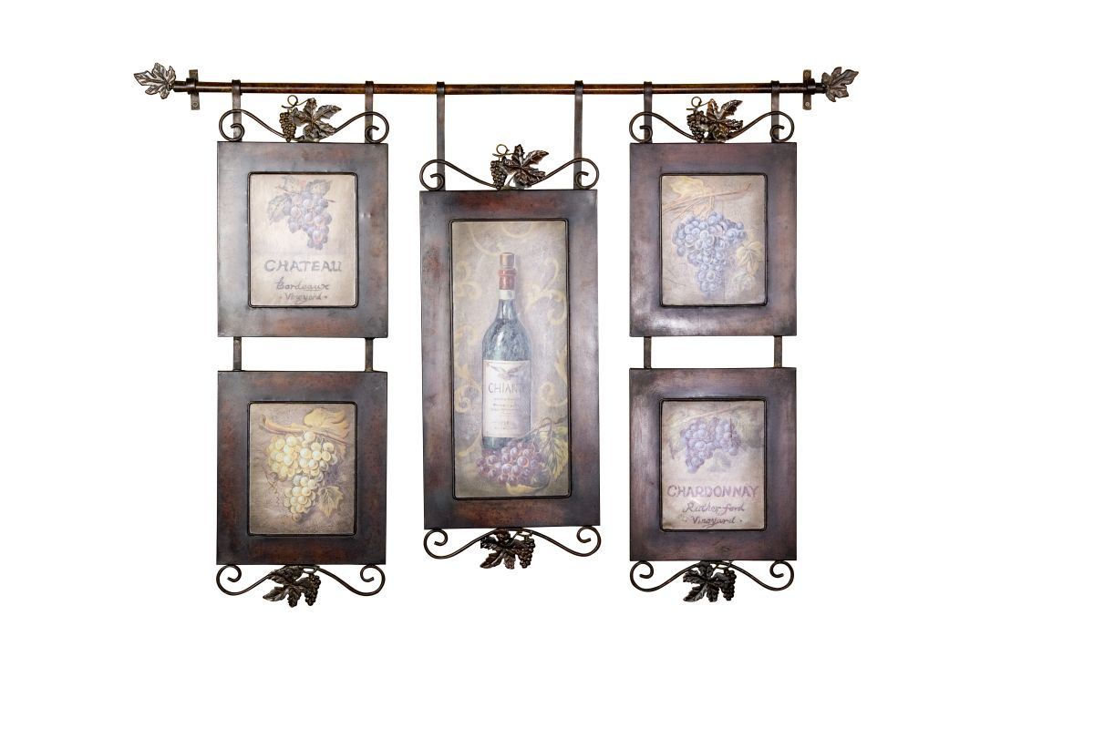 Uttermost 50791 Hanging Wine Purple Gray Brown Home Decor Art Prints