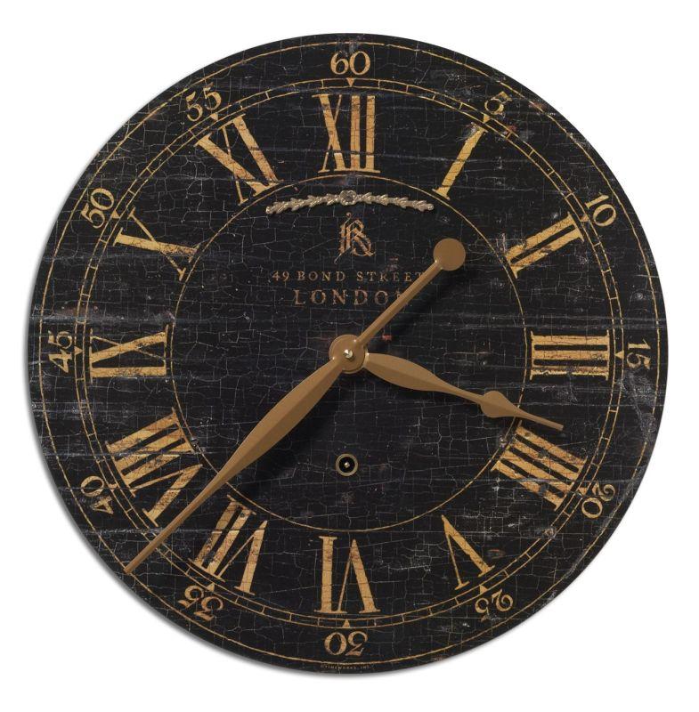 "Uttermost 6029 Bond Street 18"" Clock Weathered Home Decor Wall Clocks"