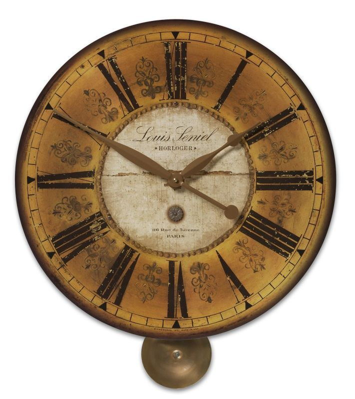 Uttermost 6034 Louis Leniel Clock Weathered With Brass Accents Home Sale $125.40 ITEM: bci1945969 ID#:6034 UPC: 792977060346 :