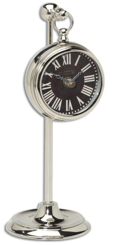 Uttermost 6071 Pocket Watch Nickel Marchant Black Clock Brushed Nickel