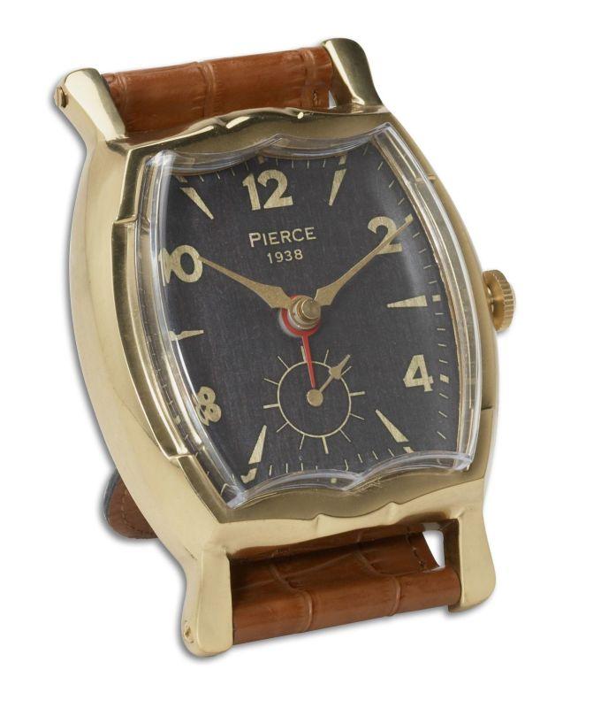 Uttermost 6075 Wristwatch Alarm Square Pierce Clock Brass Rim With