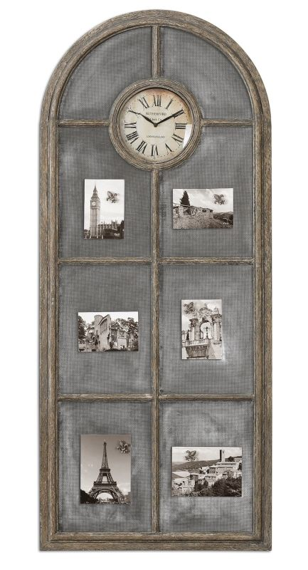 Uttermost 6656 Beckton Clock Charcoal Gray Home Decor Wall Clocks