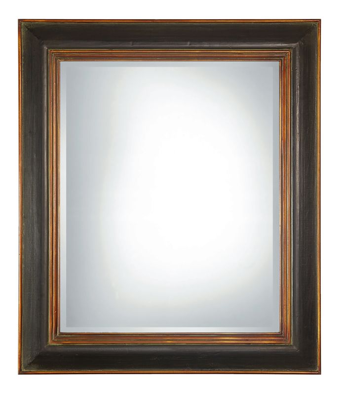 Uttermost 07023 B Fabiano Beveled Mirror With Wood Frame Black With
