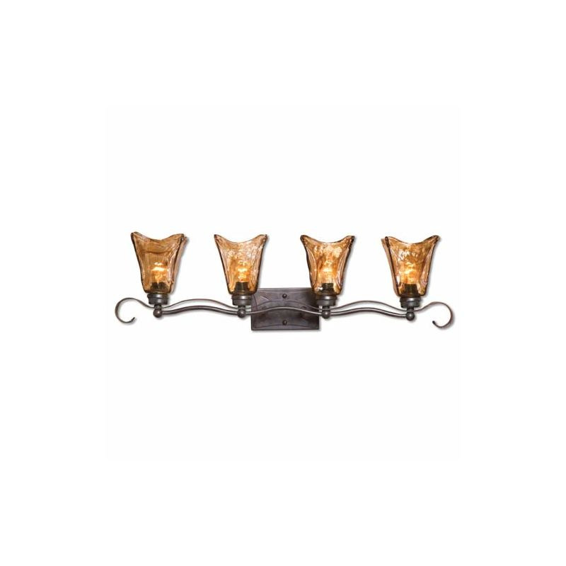 Uttermost 22845 Vetraio Four-Light Bath Fixture Oil Rubbed Bronze