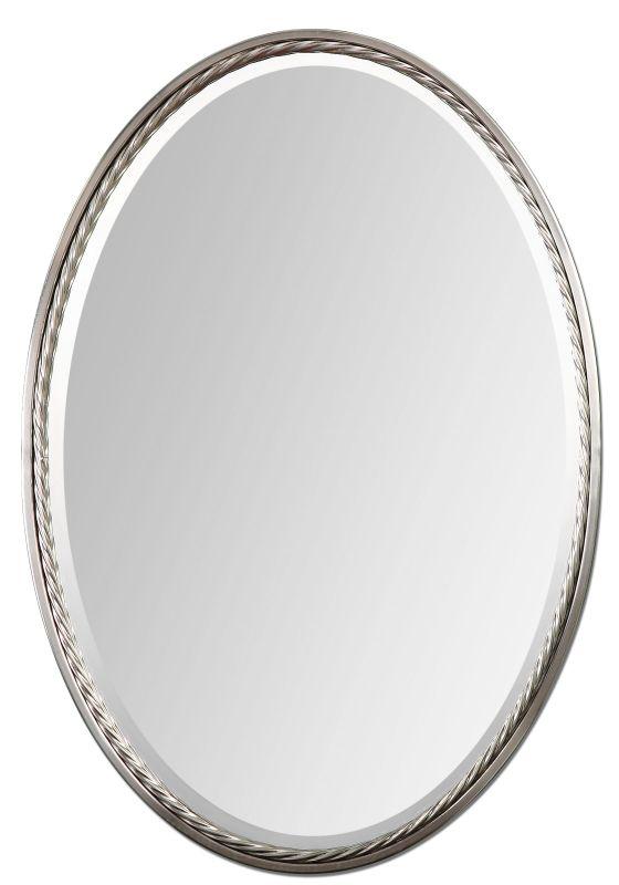 Uttermost 01115 Casalina Nickel Oval Mirror Brushed Nickel Home Decor
