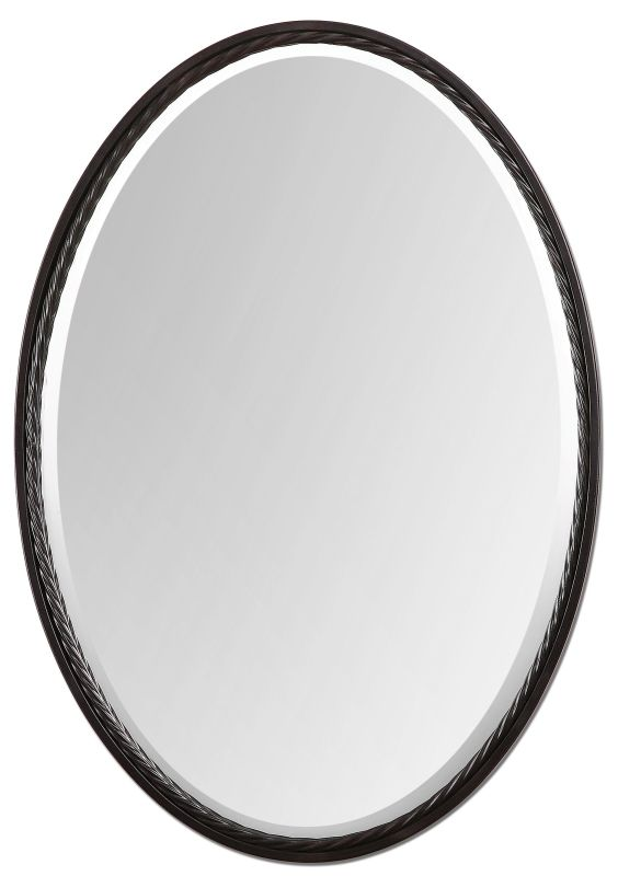 Uttermost 01116 Casalina Oil Rubbed Bronze Oval Mirror Oil Rubbed