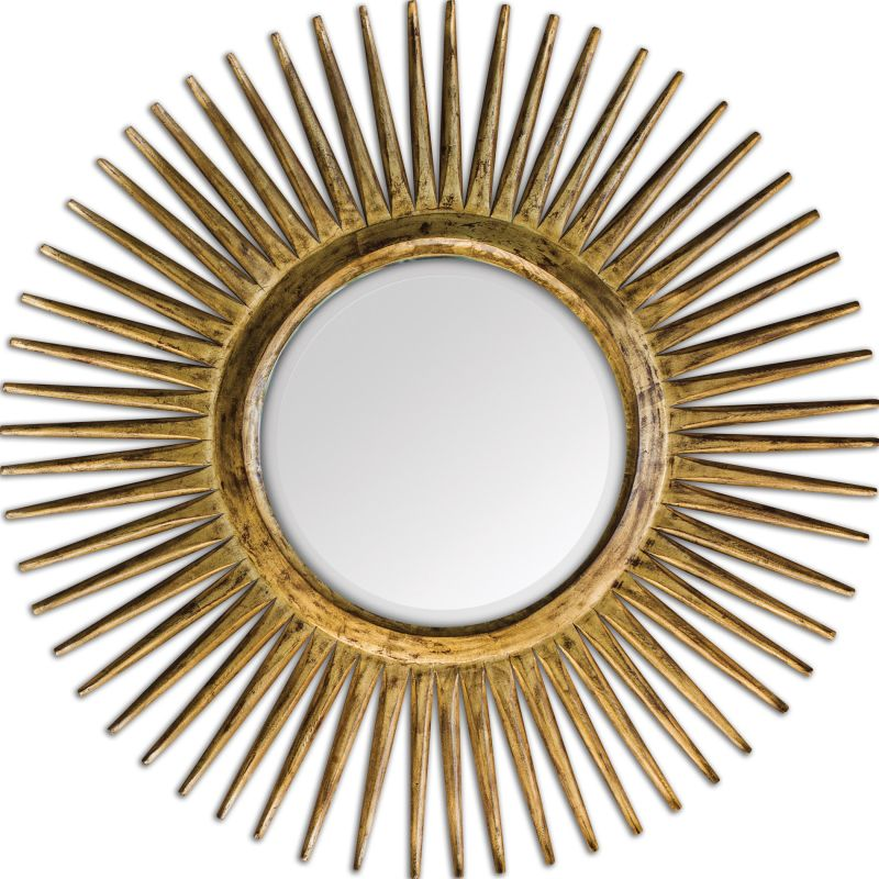 Uttermost 05032 Destello Starburst Rounded Mirror Distressed Sanded