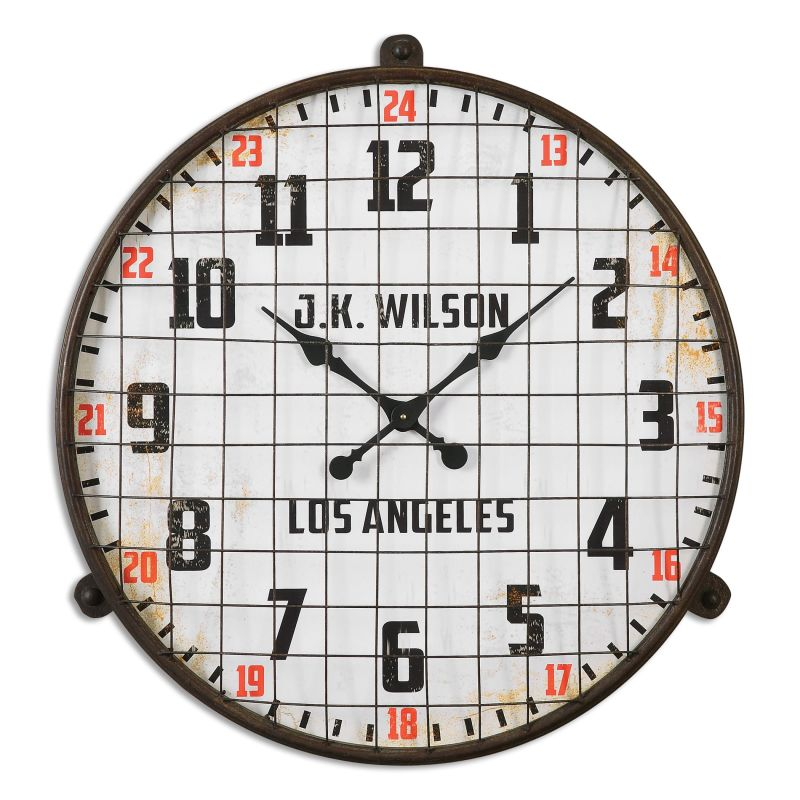 Uttermost 06424 Max Circular Analog Wall Clock with Standard Numerals