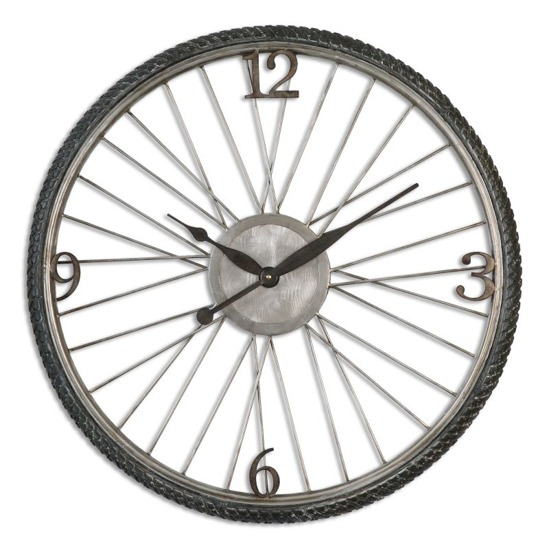 Uttermost 06426 Spokes Circular Analog Wall Clock with Standard