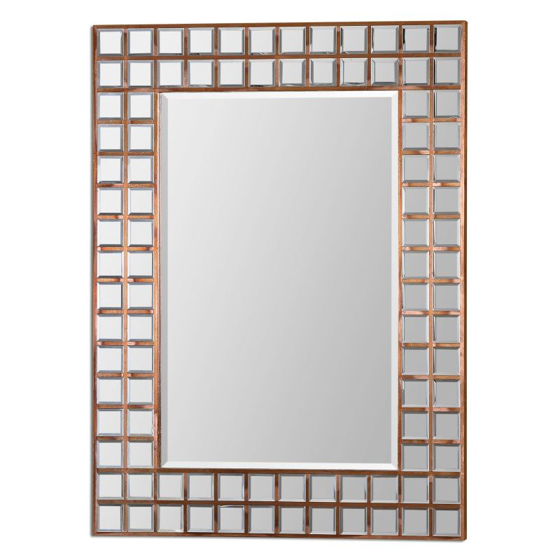 "Uttermost 07063 Keely 35.375""W x 47""H Rectangular Wall Mirror Copper"