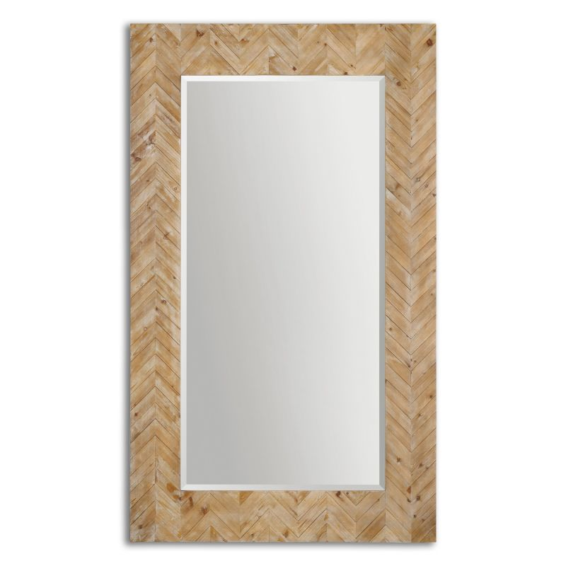 Uttermost 07068 Demetria Oversized Wooden Mirror Light Wood with Gray Sale $525.80 ITEM: bci2548173 ID#:7068 UPC: 792977070680 :
