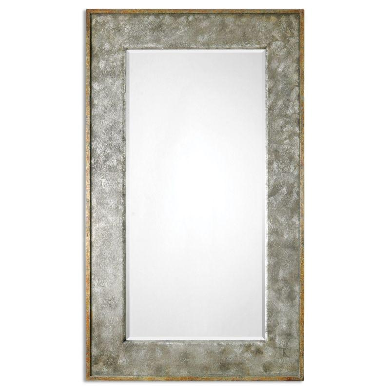 """Uttermost 07691 Leron 74"""" x 44"""" Wall Mirror Distressed Dark Bronze"""