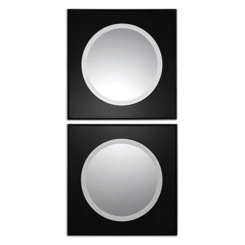 Uttermost 08118 Girard Squares Mirror Set of Two Black Home Decor