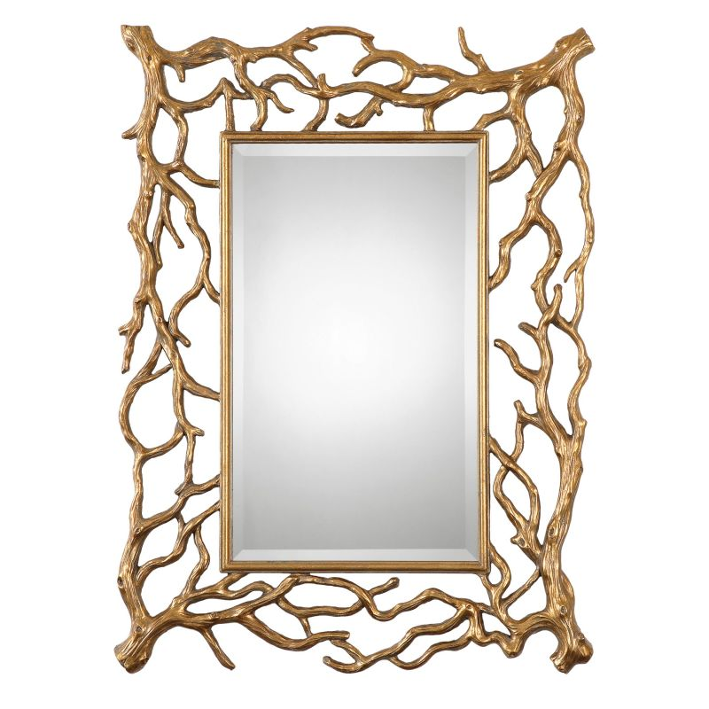 """Uttermost 08131 Sequoia 40"""" x 30"""" Wall Mirror Antiqued Gold Leaf Home"""