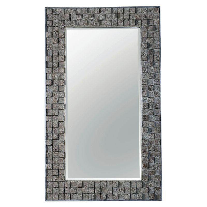 """Uttermost 09086 Beasley 75"""" x 45"""" Fir Wood Frame Beveled Mirror Fir"""