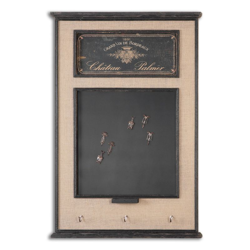 Uttermost 10510 Chateau Palmer Chalkboard Burlap Linen with Distressed