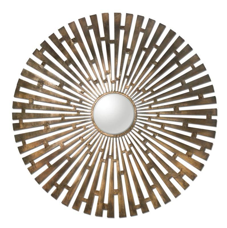 Uttermost 12846 Tremeca Brass Starburst Mirror Brushed Brass Home