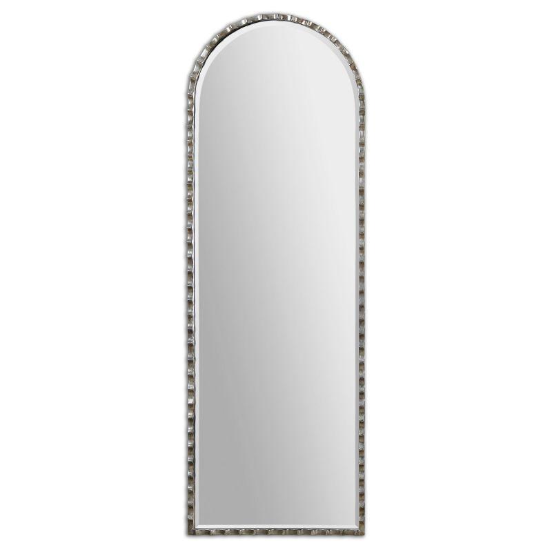 Uttermost 12881 Gelston Arch Scalloped Metal Mirror Oxidized Silver