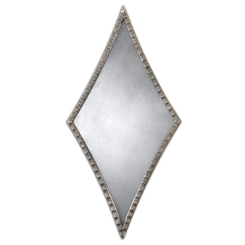 Uttermost 12882 Gelston Diamond Mirror Oxidized Silver Home Decor