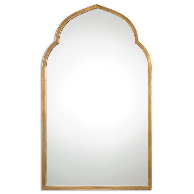 """Uttermost 12907 Kenitra 40"""" x 24"""" Wall Mirror Antiqued Gold Home Decor"""