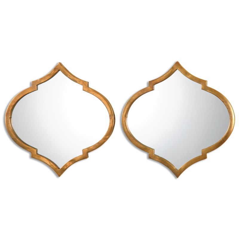 Uttermost 12909 Jebel Wall Mirror - 2 Piece Set Antiqued Gold Home