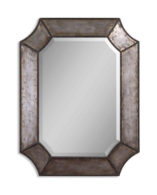 """Uttermost 13628 B Elliot 1-1/4"""" Beveled Mirror Distressed Hammered"""