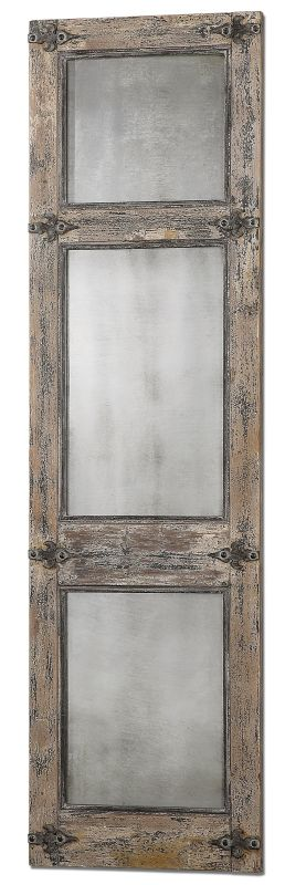 Uttermost 13835 Saragano Distressed Leaner Mirror Heavily Distressed