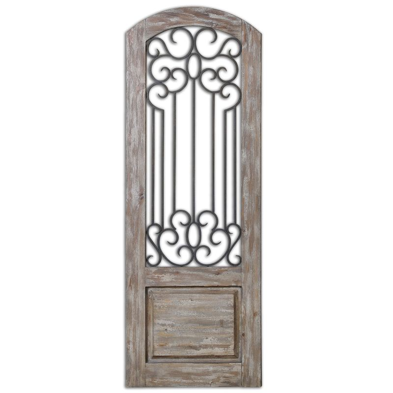 Uttermost 13861 Mulino Distressed Panel Wall Decor Distressed Solid