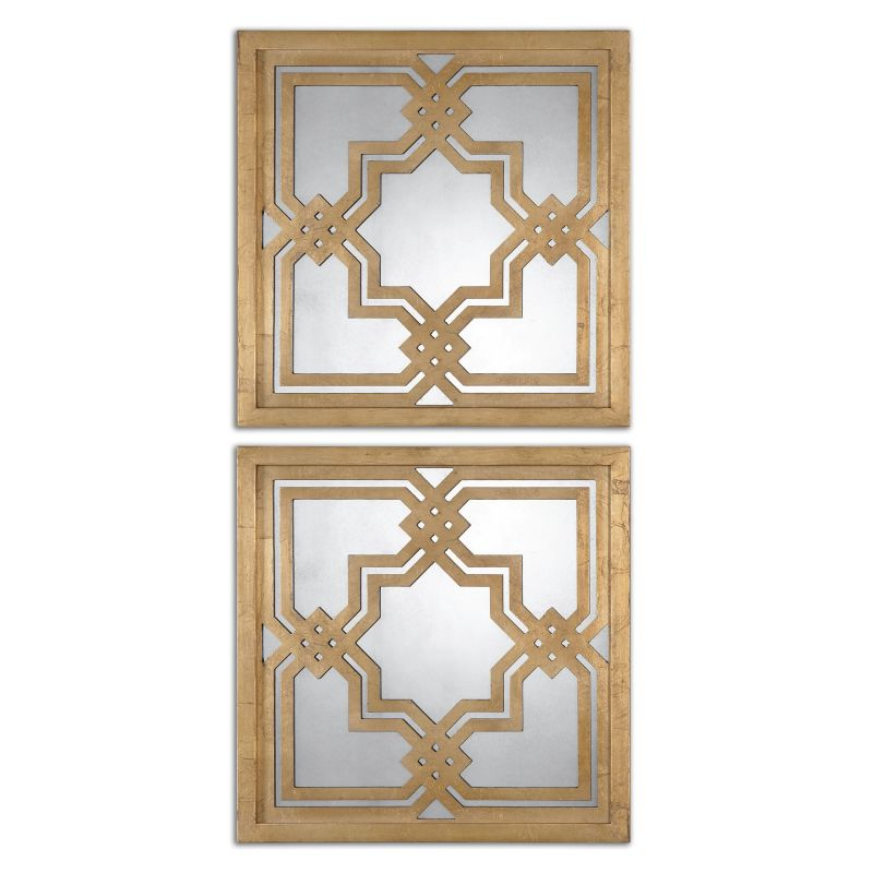 Uttermost 13865 Piazzale Squares Arabesque Square Mirrors Set of Two