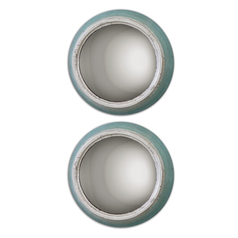Uttermost 13866 Fanchon Rounds Off Center Rounded Mirrors Set of Two
