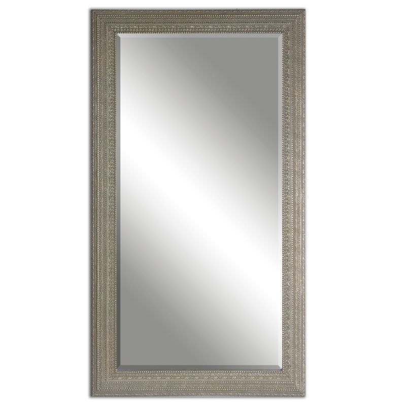 Uttermost 14603 Malika Antique Metal Texture Mirror Antiqued Silver