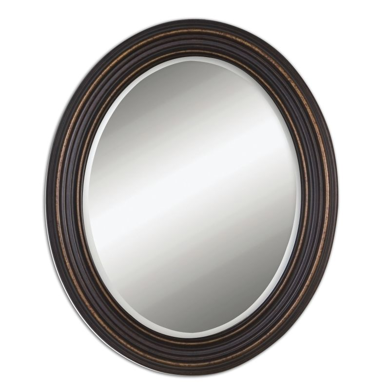 Uttermost 14610 Ovesca Oval Weathered Metal Oval Mirror Dark Oil