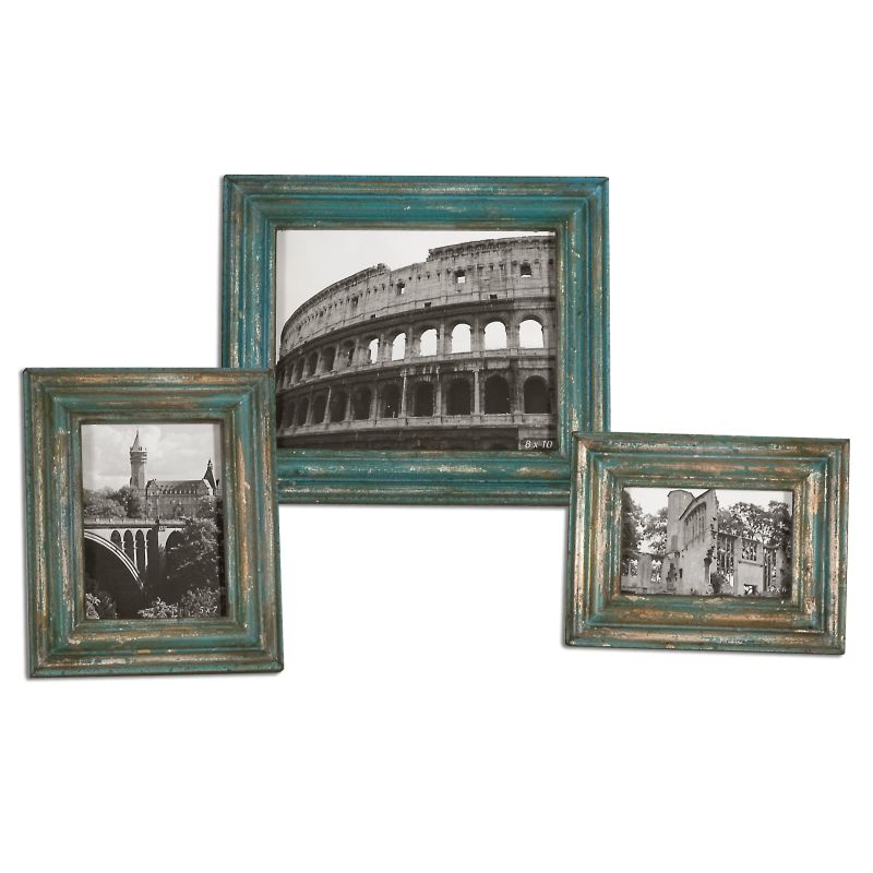 Uttermost 18561 Marlais Picture Frames - Set of 3 Copper Home Decor