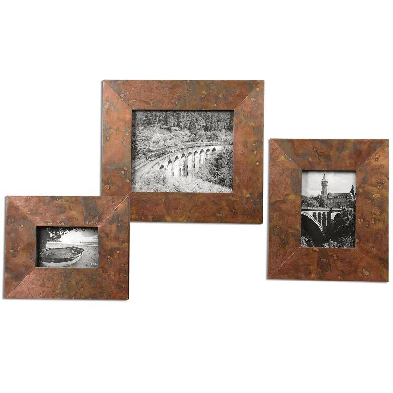 Uttermost 18564 Ambrosia Picture Frames - Set of 3 Copper Home Decor