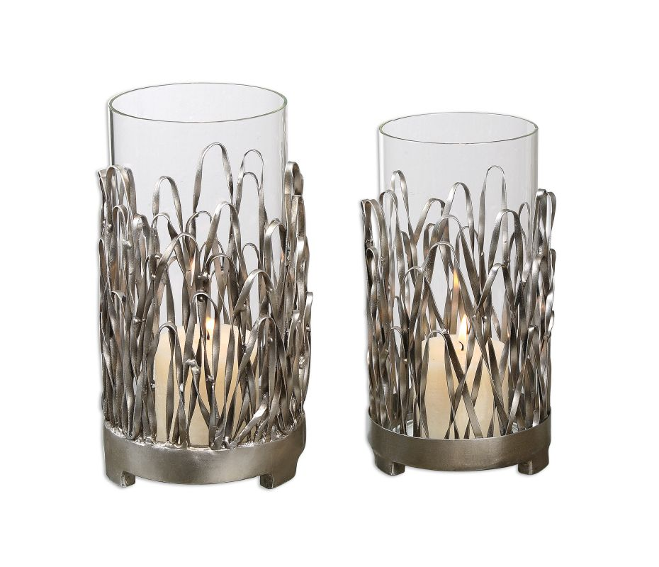 Uttermost 19784 Corbis Candle Holders Silver Finish Home Decor Candle Sale $162.80 ITEM: bci2244150 ID#:19784 UPC: 792977197844 :