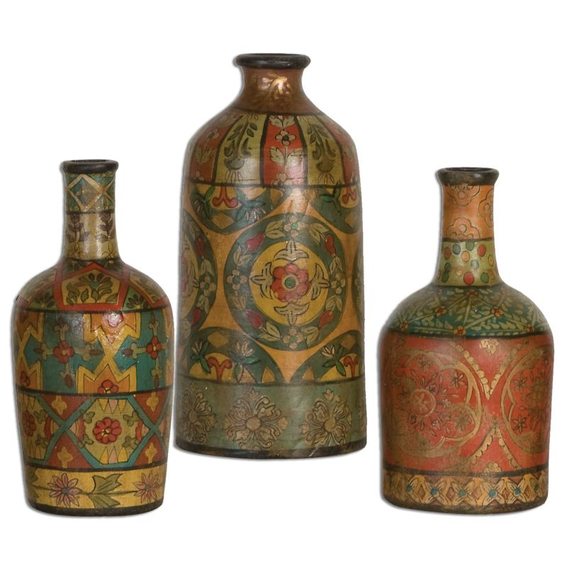 Uttermost 19814 Sachi Terra Cotta Vases - Set of 3 Orange Home Decor