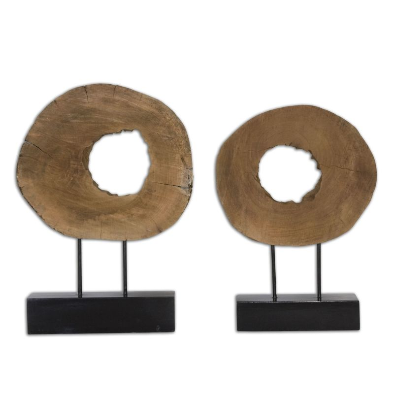 Uttermost 19822 Ashlea Wooden Sculptures Set of Two Carved Mango Wood