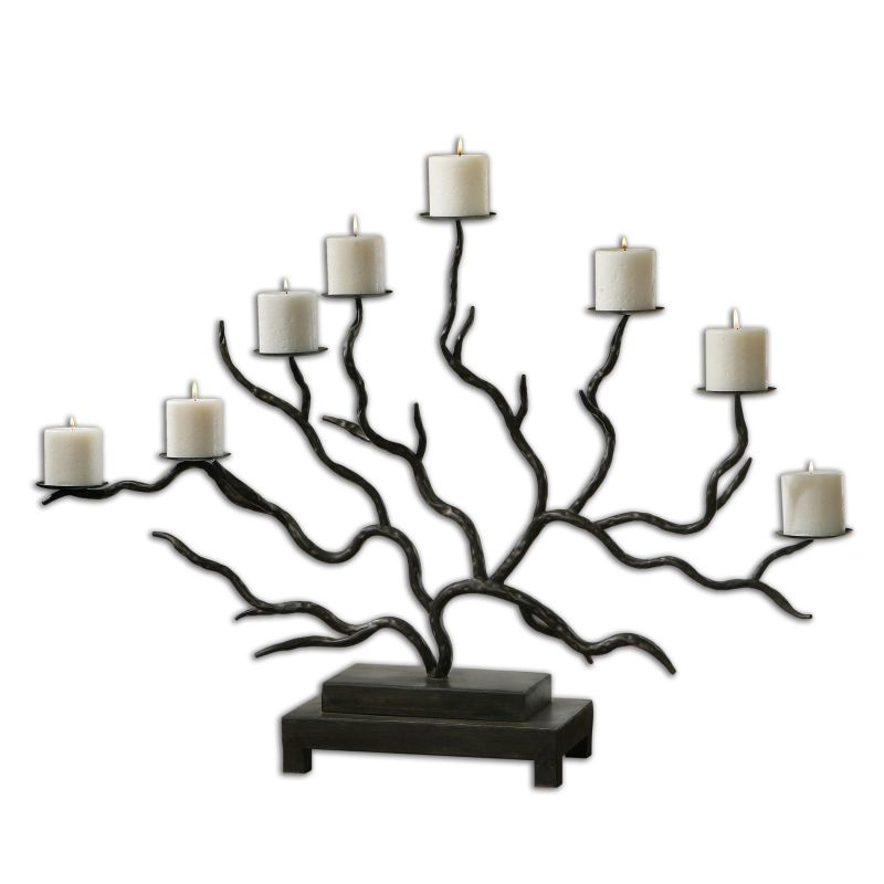 Uttermost 19866 Esher Metal Spread Twig Candelabra Bronze Metal Home