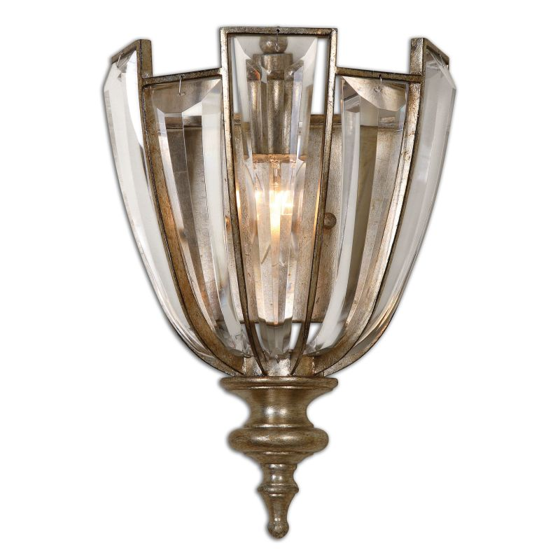 Uttermost 22494 Vicentina 1 Light Wall Sconce Burnished Silver