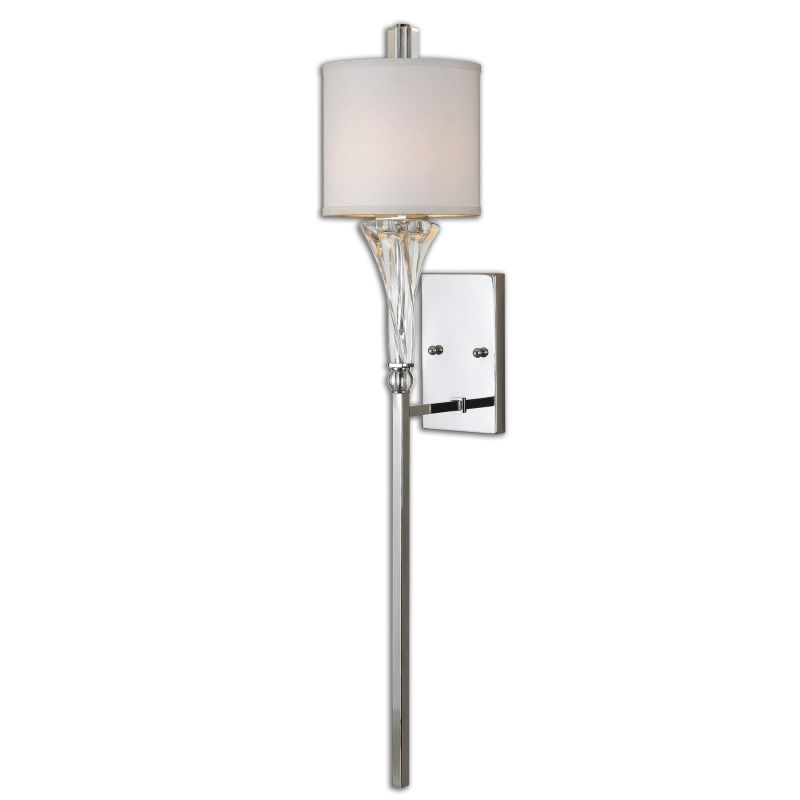 Uttermost 22495 Grancona 1 Light Wall Sconce Polished Chrome with