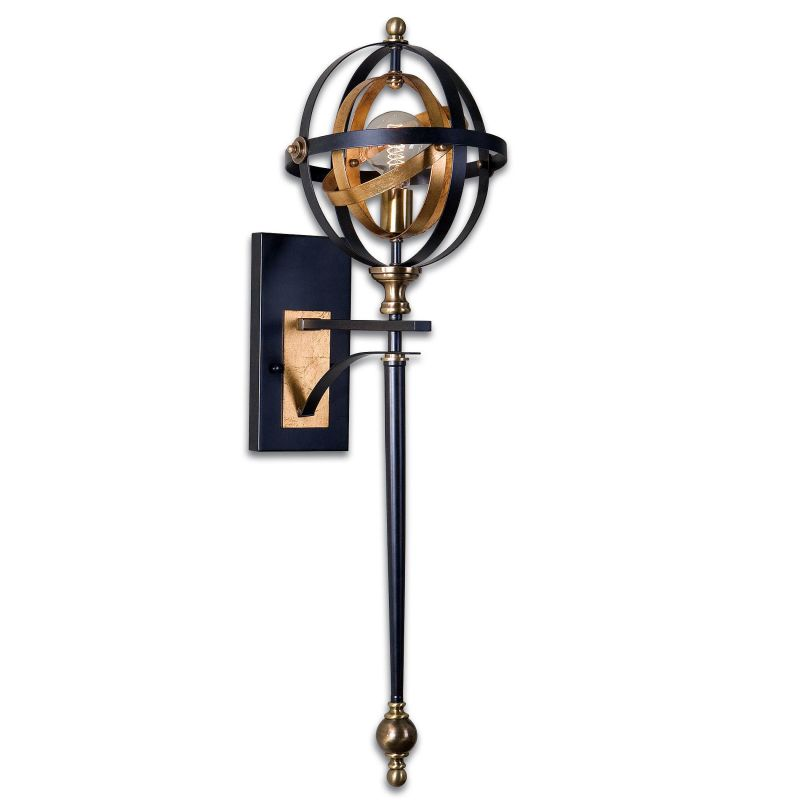 Uttermost 22497 Rondure 1 Light Wall Sconce Dark Oil Rubbed Bronze