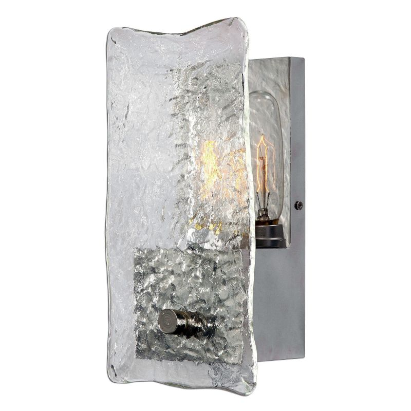 Uttermost 22498 Cheminee 1 Light Wall Sconce Brushed Steel Indoor